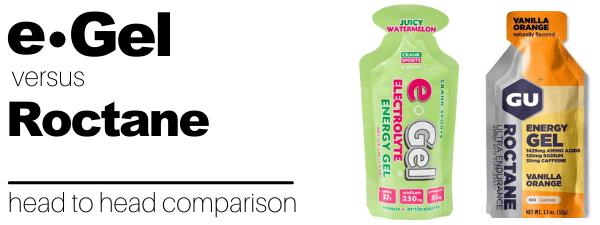 e-Gel vs Roctane energy gel comparison