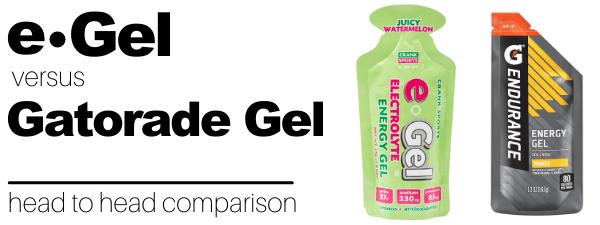 Gatorade Endurance Energy Gel vs e-Gel Energy Gel Comparison