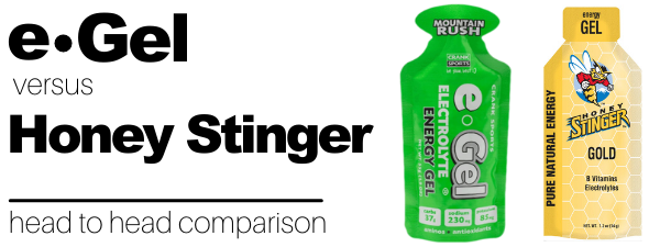 Honey Stinger vs e-Gel Energy Gel Comparison