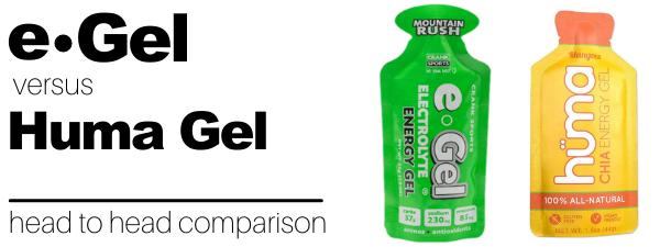 Huma Gel vs e-Gel Energy Gel Comparison