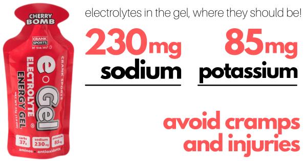 electrolytes in the energy gel